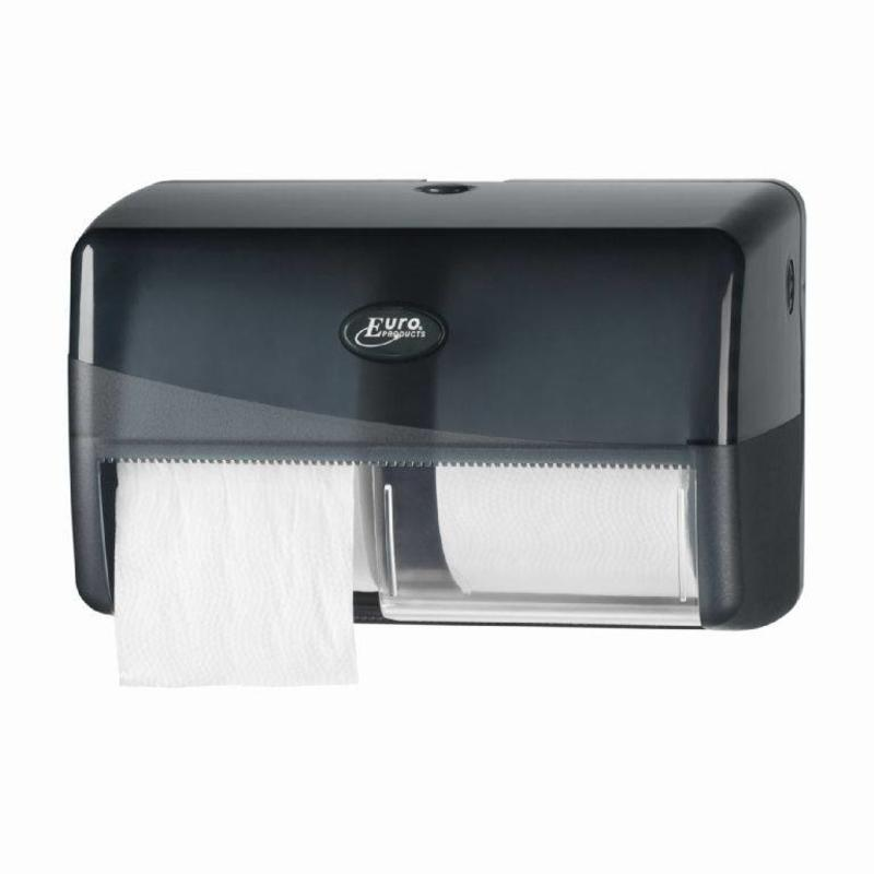Euro Products Pearl Black Duo toiletrolhouder - Coreless