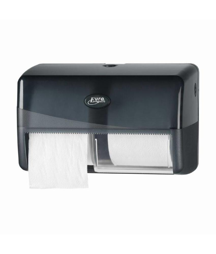 Pearl Black Duo toiletrolhouder - Coreless
