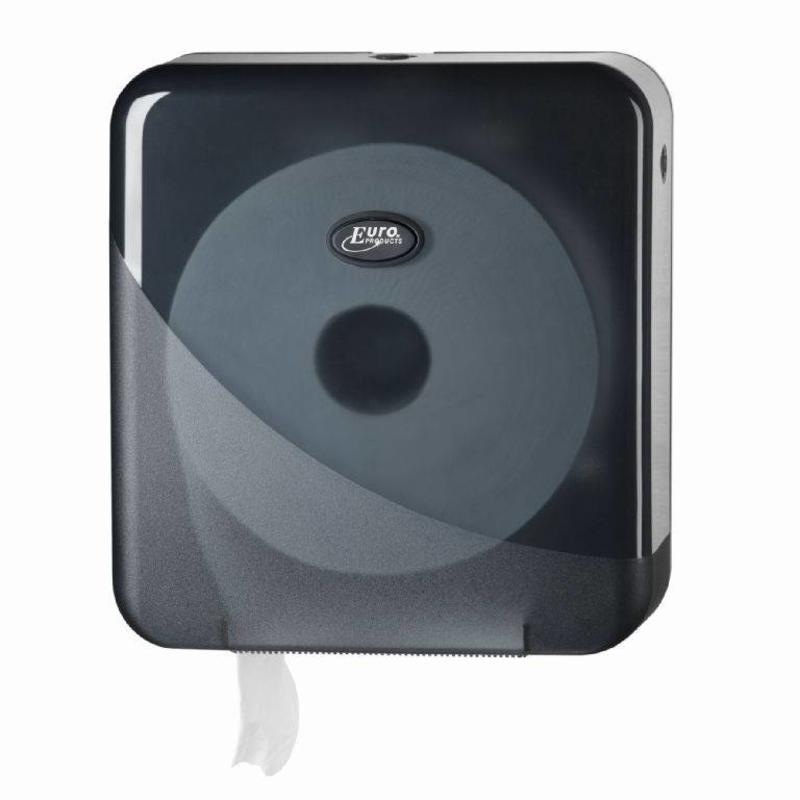 Pearl Black Jumbo toiletrolhouder - Maxi