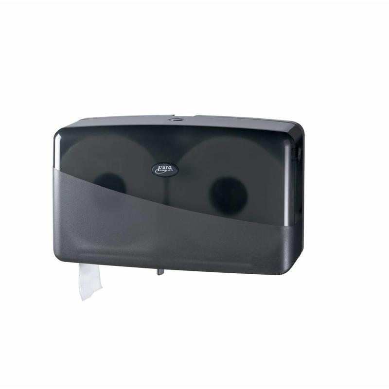 Pearl Black Jumbo toiletrolhouder - Duo mini