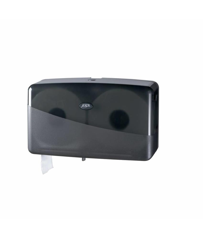 Euro Products Pearl Black Jumbo toiletrolhouder - Duo mini