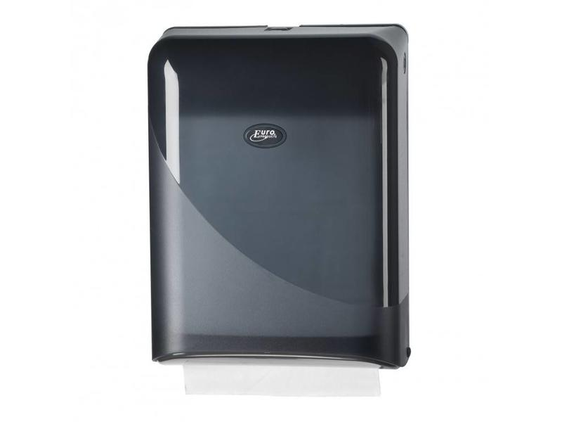Euro Products Euro Products Pearl Black Handdoekdispenser - Interfold, Z-fold