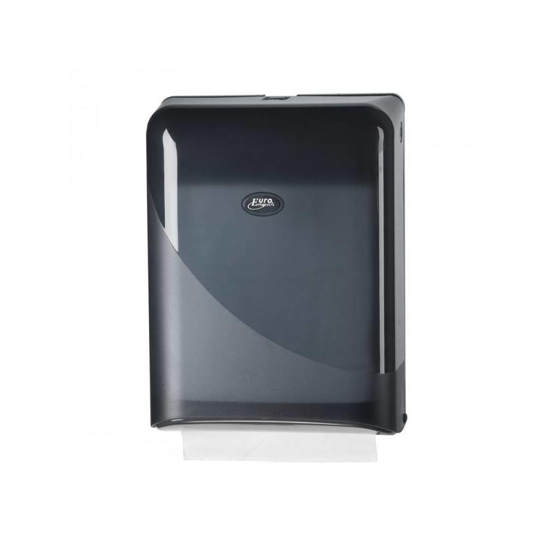 Euro Products Pearl Black Handdoekdispenser - Interfold, Z-fold