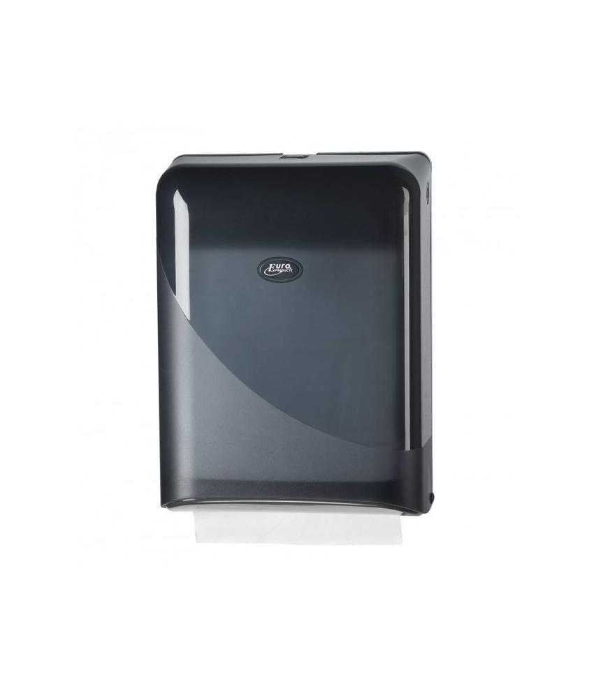 Euro Products Pearl Black Handdoekdispenser - Interfold, Z-fold