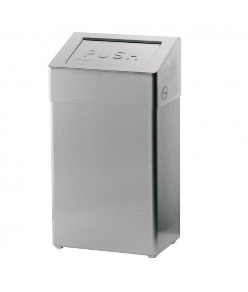 Afvalbak met zelfsluitende deksel - 18 liter