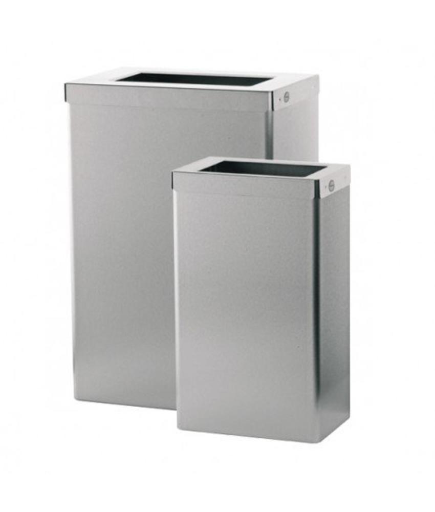 Afvalbak met open inworp - 22 liter