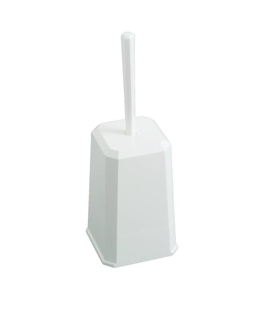 Toiletborstelhouder - Wit kunststof