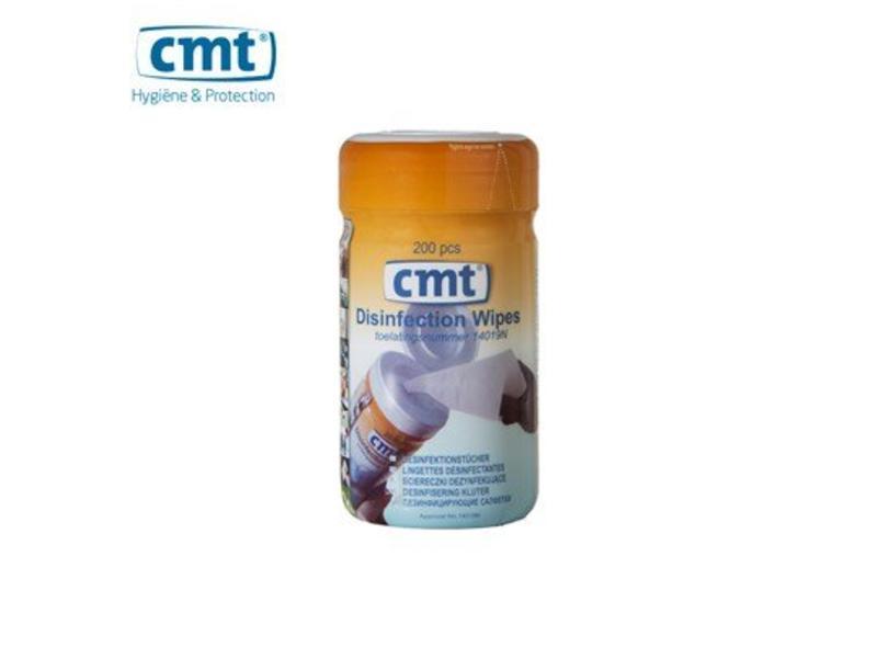 CMT Desinfectie Wandhouder voor Desinfectie doekjes, wit 200 stuks