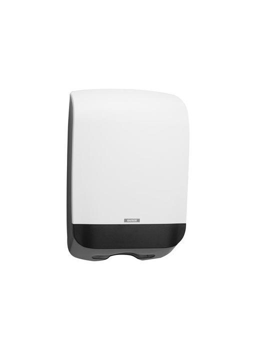 Vouwhanddoek dispenser M wit, 450x301x146 mm