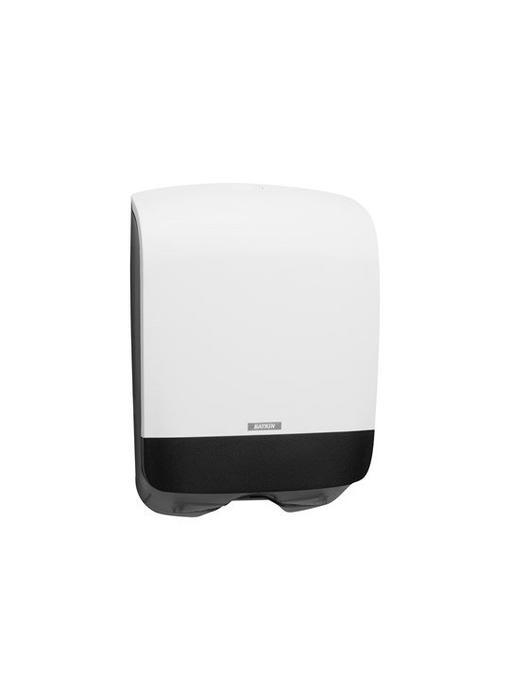 Vouwhanddoek dispenser mini wit, 350x248x114 mm