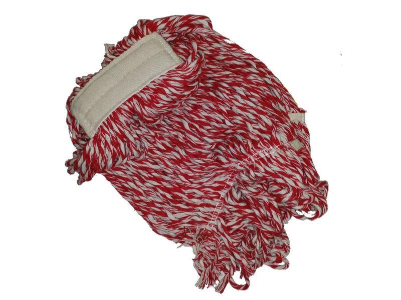 Eigen merk Strengenmop katoen rood/wit - 350 gram