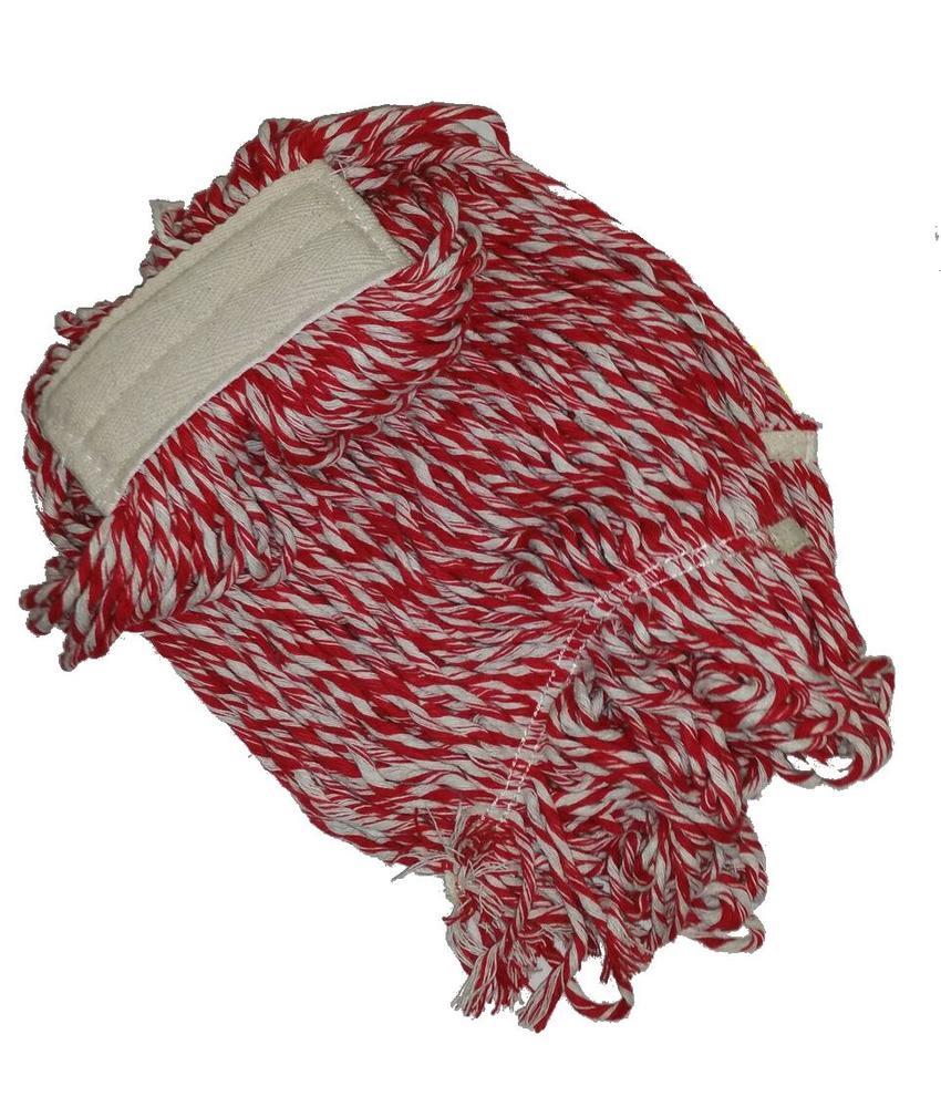 Strengenmop katoen rood/wit - 350 gram