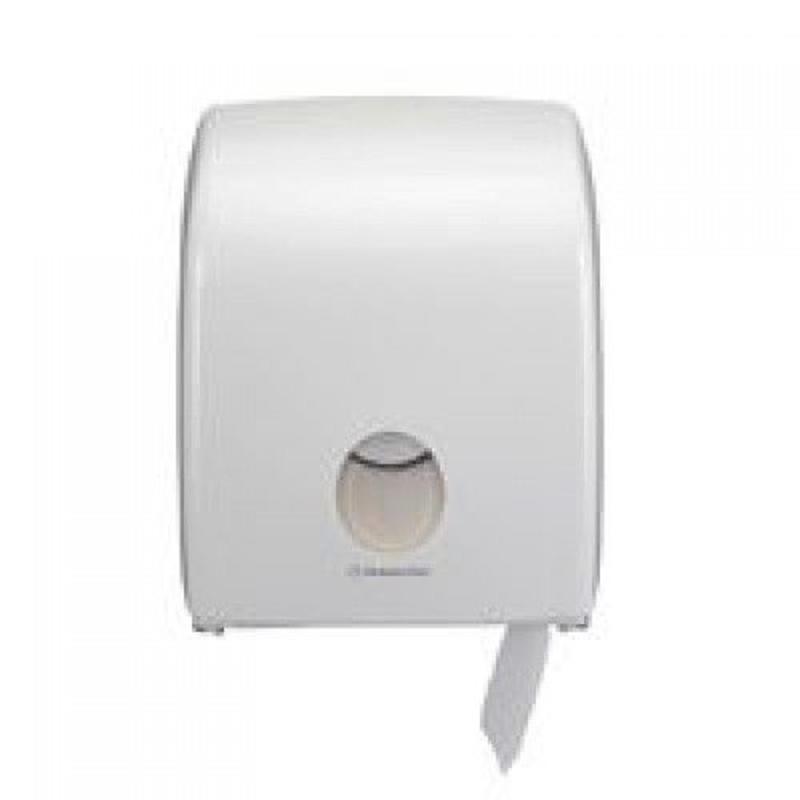 AQUARIUS* Toilettissue Dispenser - Mini Jumbo, Enkel - Wit