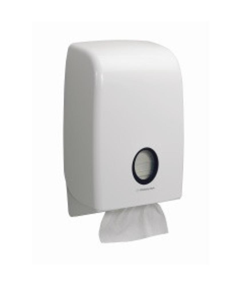 AQUARIUS* Gevouwen Handdoek Dispenser - Intergevouwen - Wit