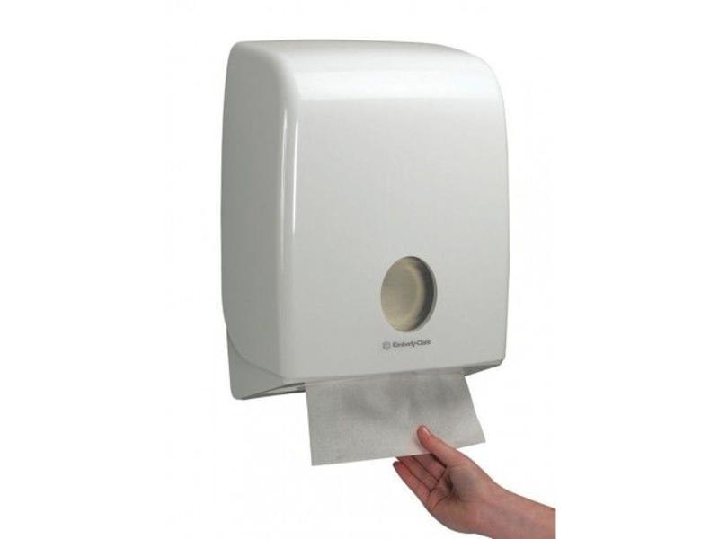Kimberly Clark AQUARIUS* Gevouwen Handdoek Dispenser - C gevouwen - Wit