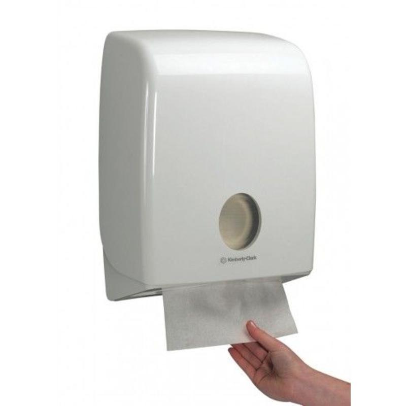 AQUARIUS* Gevouwen Handdoek Dispenser - C gevouwen - Wit