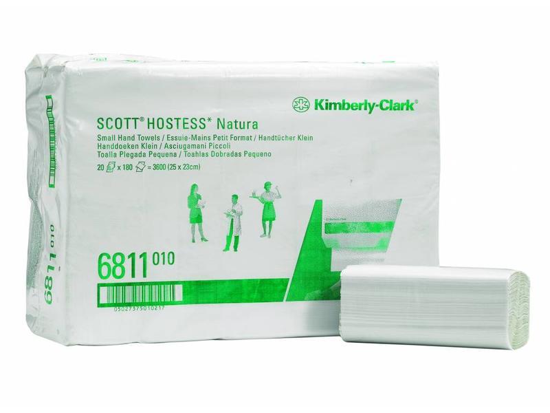 Kimberly Clark SCOTT® NATURA Handdoeken - Intergevouwen / Klein - Wit