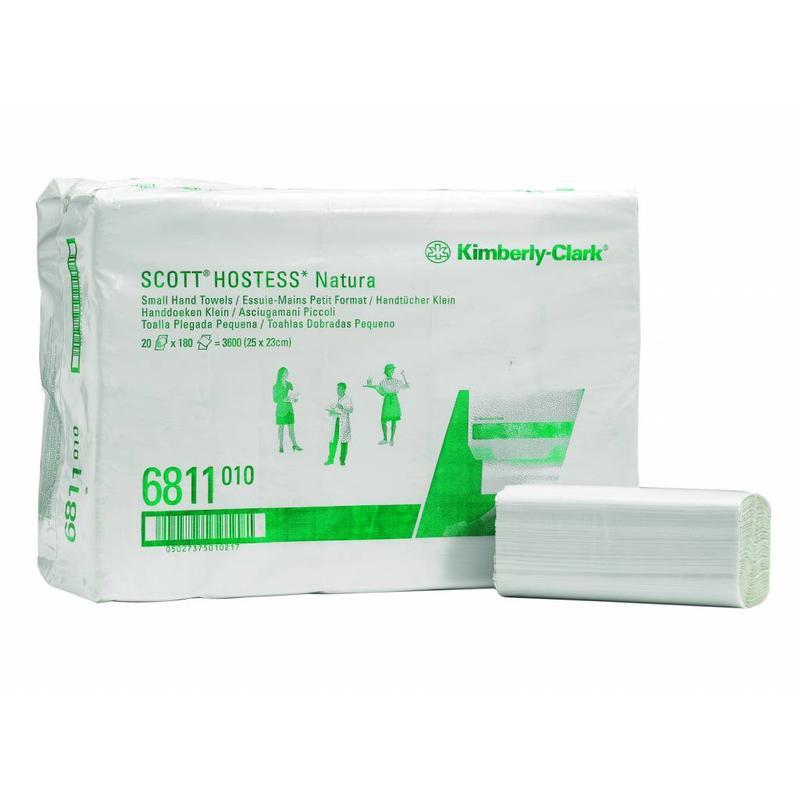 SCOTT® NATURA Handdoeken - Intergevouwen / Klein - Wit