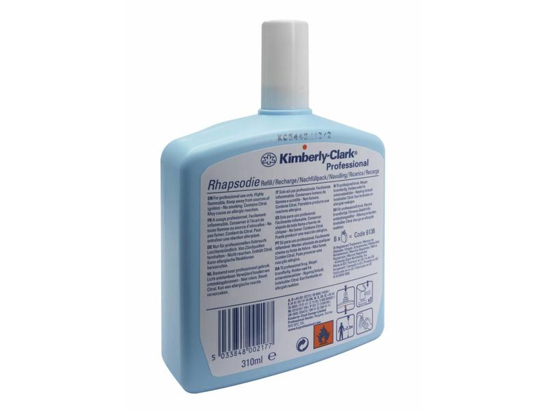 Kimberly Clark KIMBERLY-CLARK PROFESSIONAL* RHAPSODIE Rhapsodie Luchtverfrisser - Navulling / 310 ml - Transparant