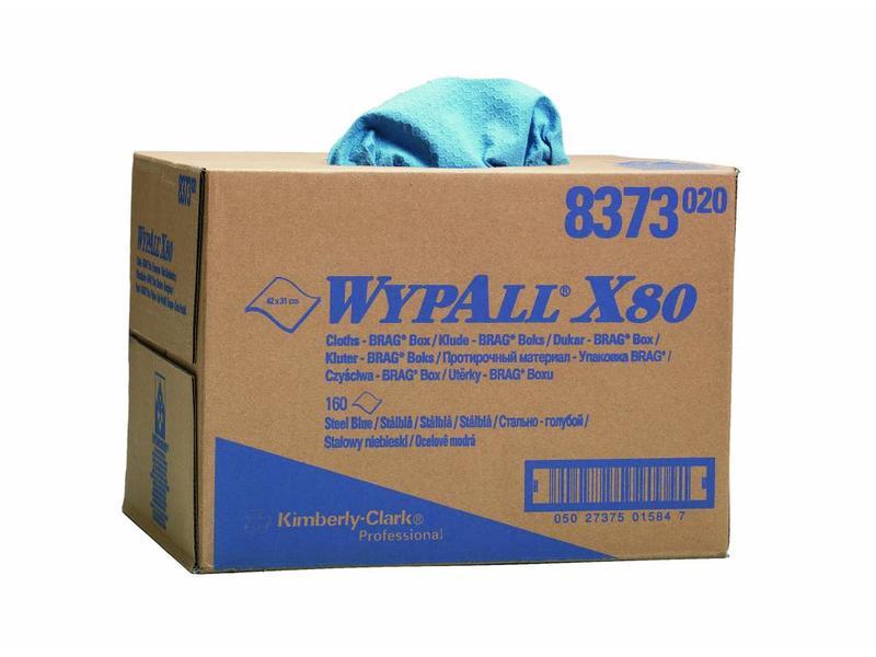 Kimberly Clark  WYPALL* X80 Doeken - Draagdoos - Staalblauw