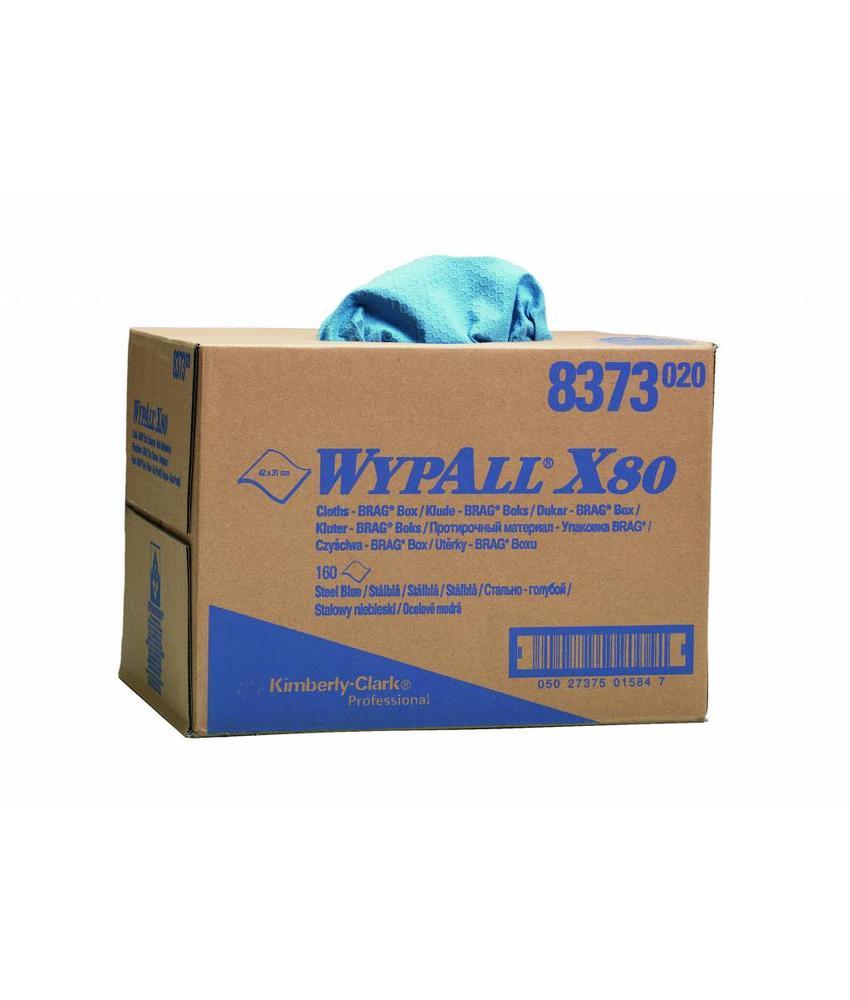 WYPALL* X80 Doeken - Draagdoos - Staalblauw