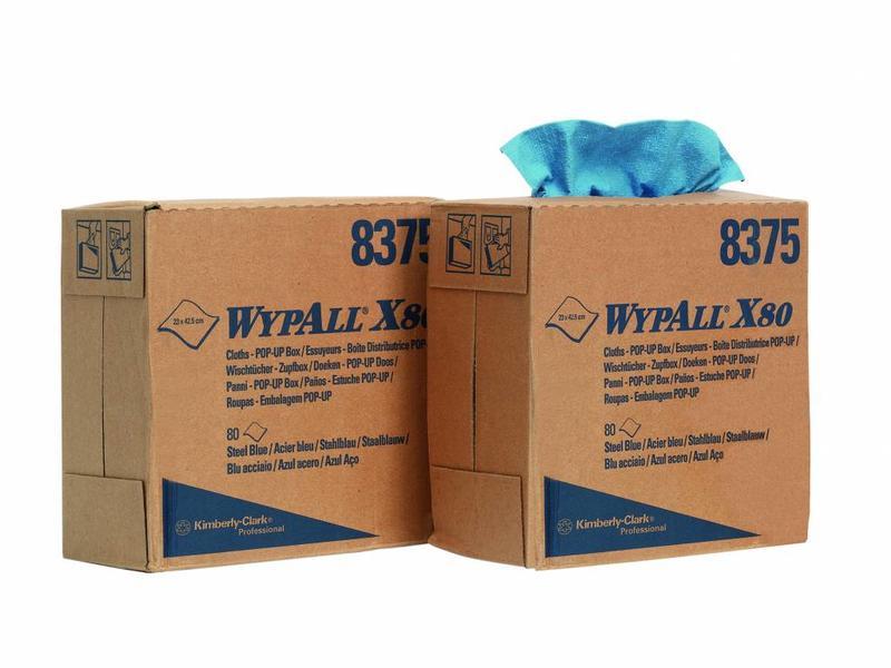 Kimberly Clark WYPALL* X80 Doeken - Staalblauw