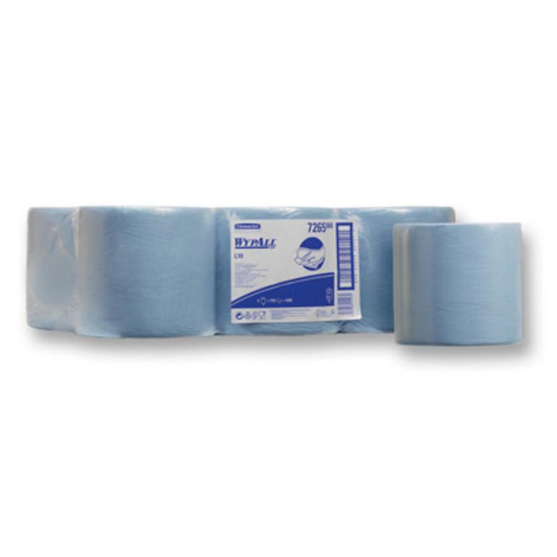WYPALL* L10 Poetsdoeken - combirol - Blauw