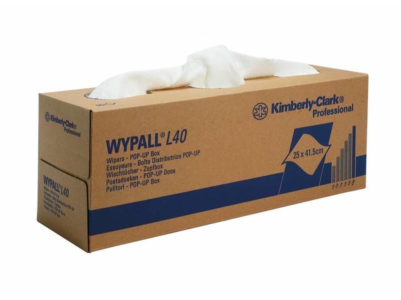Kimberly Clark  WYPALL* L40 Poetsdoeken - POP-UP Doos - Wit