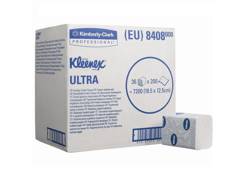 Kimberly Clark KLEENEX® ULTRA Toilettissue - Gevouwen / 200 - Wit