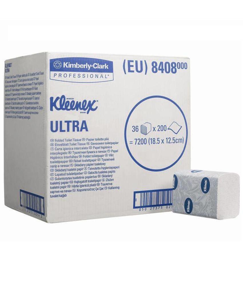 KLEENEX® ULTRA Toilettissue - Gevouwen / 200 - Wit