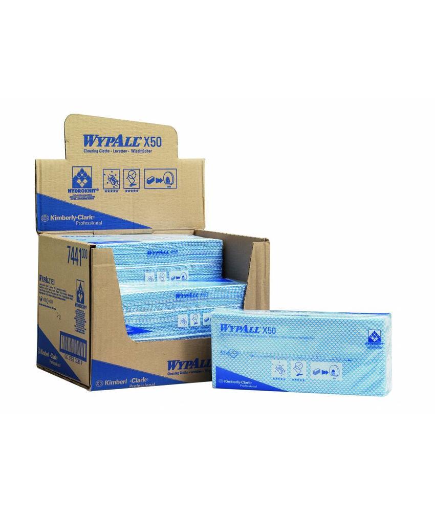 WYPALL* X50 Sopdoeken - Intergevouwen - Blauw