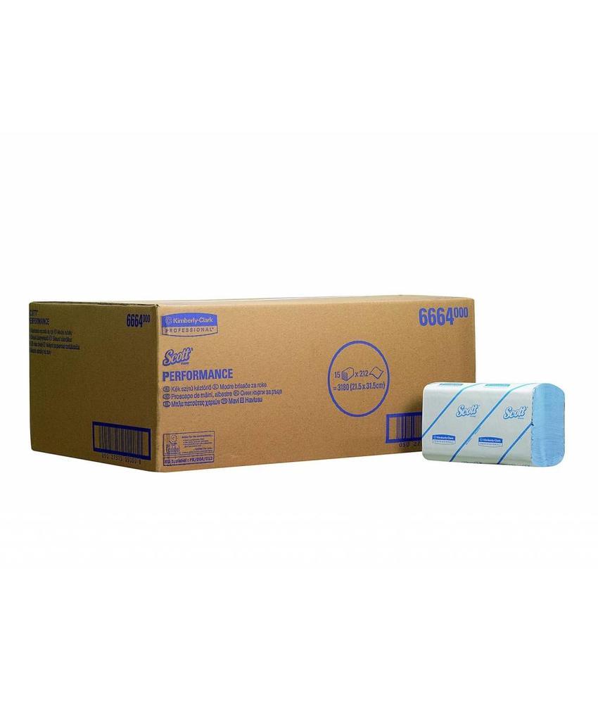 SCOTT® PERFORMANCE Handdoeken - Intergevouwen / Medium - Blauw