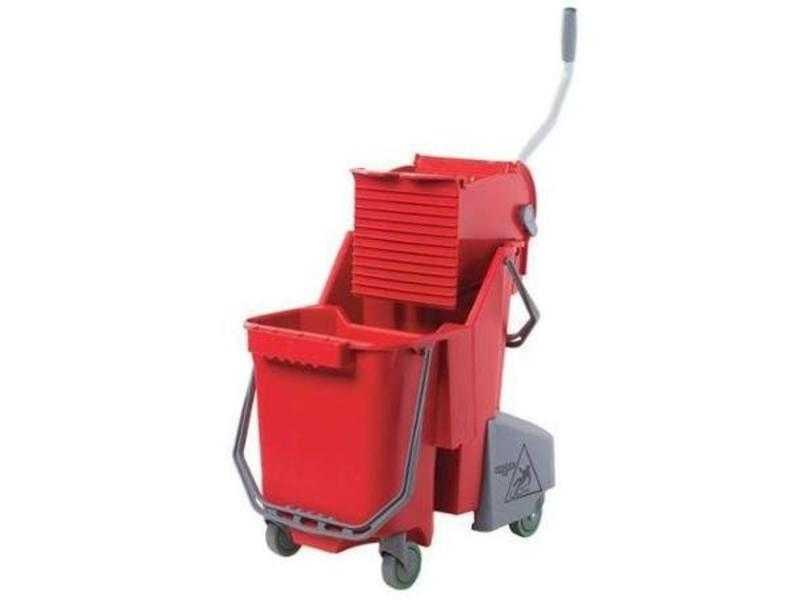 Unger Unger Sanitair Combo 30 l (Rolemmer + Pers), rood