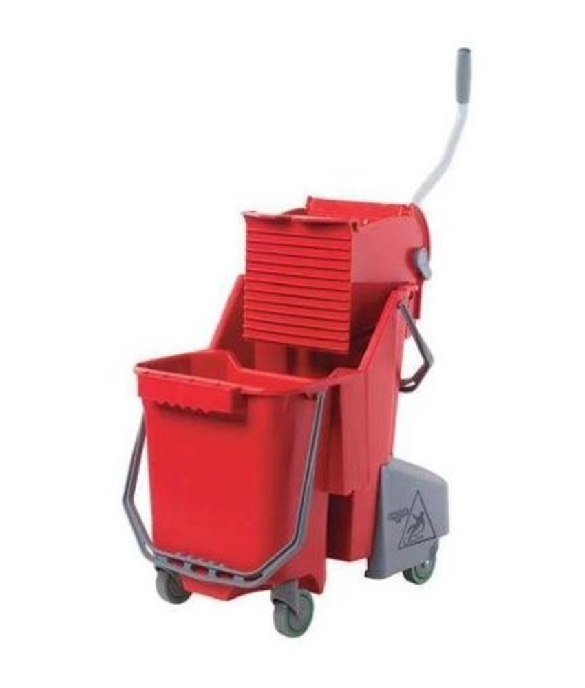 Sanitair Combo 30 l (Rolemmer + Pers), rood