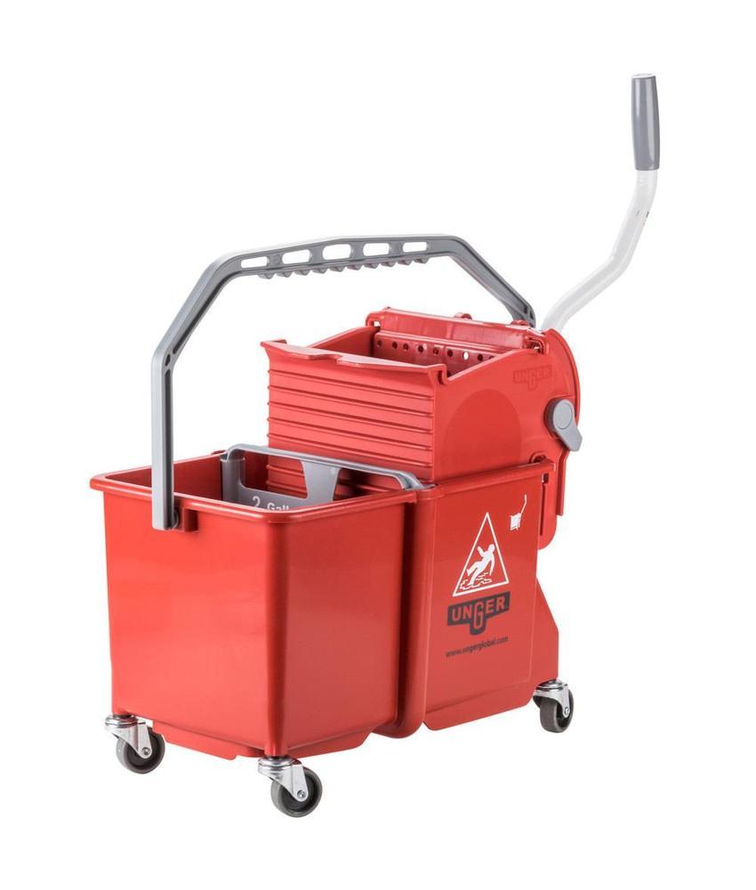 Unger SmartColor Bucket 15l (Rolemmer + Pers), rood