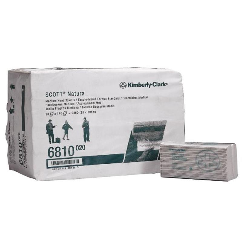 SCOTT® NATURA Handdoeken - C gevouwen / Medium - Wit