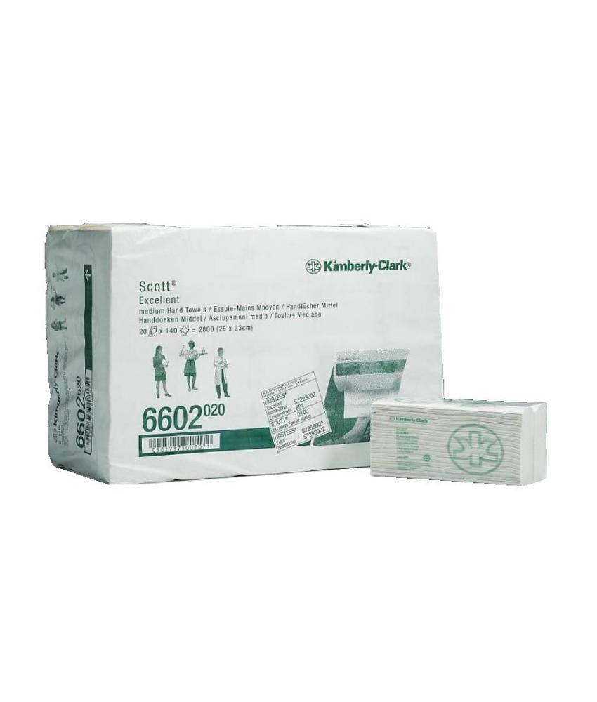 SCOTT® EXCELLENT Handdoeken - C gevouwen / Medium - Wit