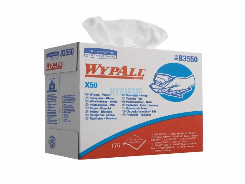 Kimberly Clark WYPALL* X50 Doeken - POP-UP Doos - Wit