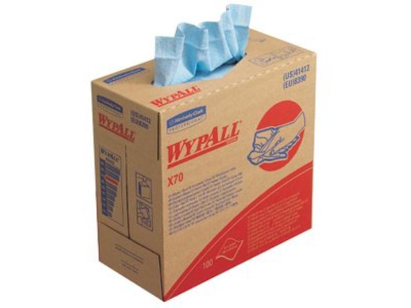 Kimberly Clark WYPALL* X70 Doeken - POP-UP Doos - Blauw
