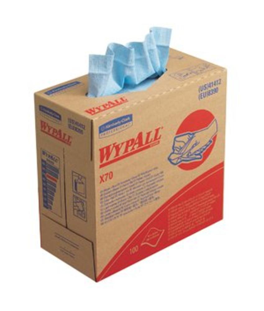 WYPALL* X70 Doeken - POP-UP Doos - Blauw