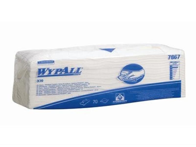 Kimberly Clark  WYPALL* X70 Doeken - Gevouwen - Wit