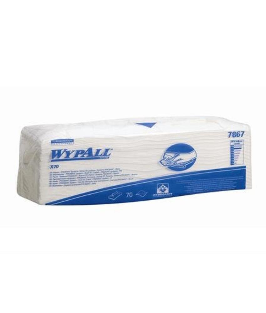 WYPALL* X70 Doeken - Gevouwen - Wit