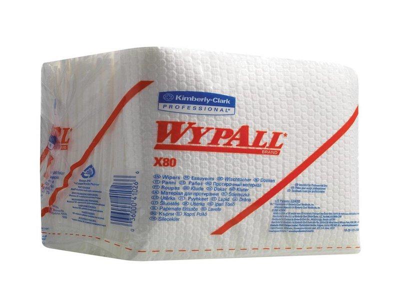 Kimberly Clark WYPALL* X80 Doeken - 1/4 Gevouwen - Wit