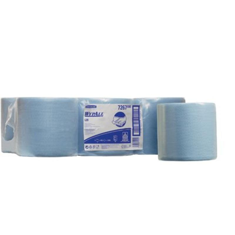 WYPALL* L20 Poetsdoeken - combirol - Blauw