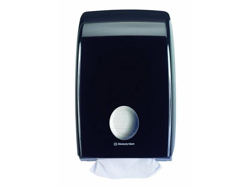 Kimberly Clark AQUARIUS* Gevouwen Handdoek Dispenser - Intergevouwen - Zwart
