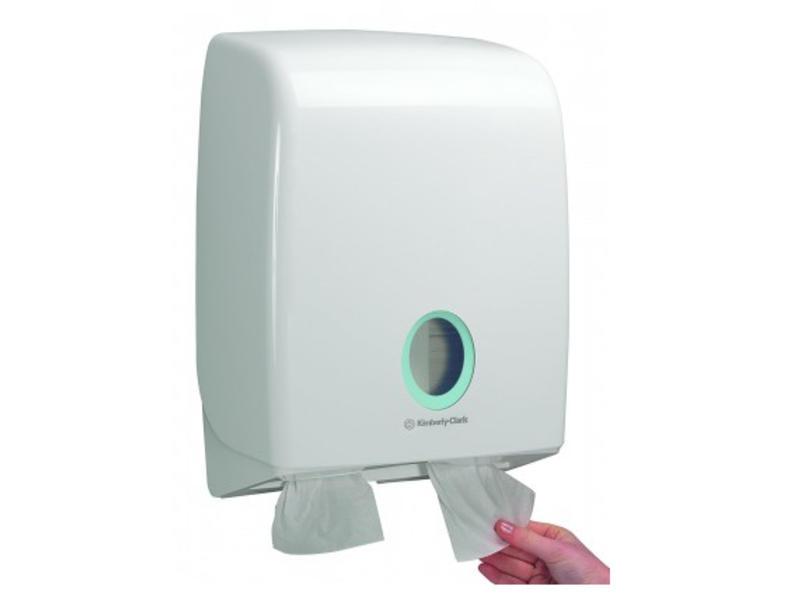 Kimberly Clark AQUARIUS* Toilettissue Dispenser - Gevouwen - Wit