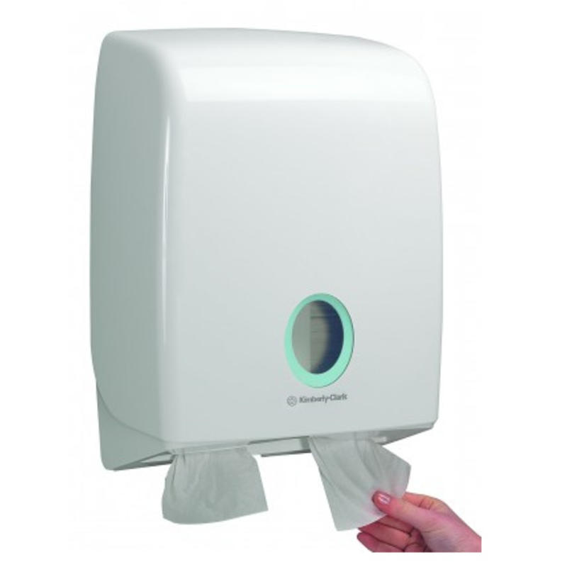 AQUARIUS* Toilettissue Dispenser - Gevouwen - Wit
