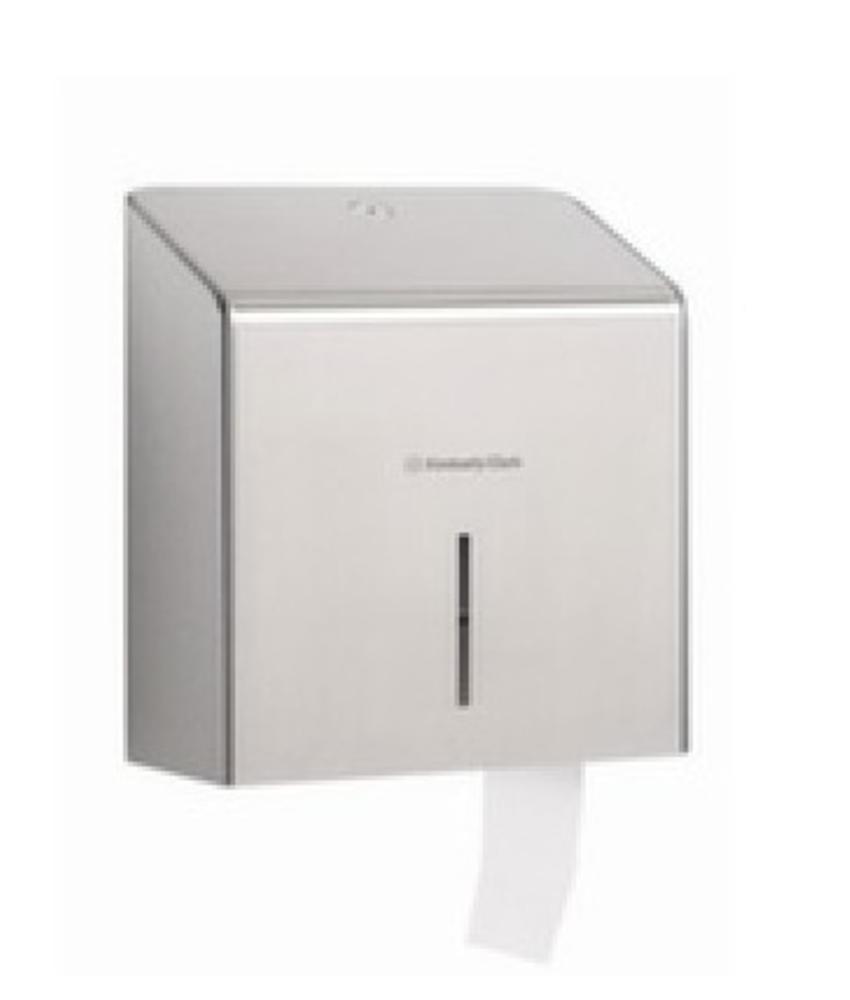 KIMBERLY-CLARK PROFESSIONAL* Toilettissue Dispenser - Mini Jumbo - Roestvrij staal