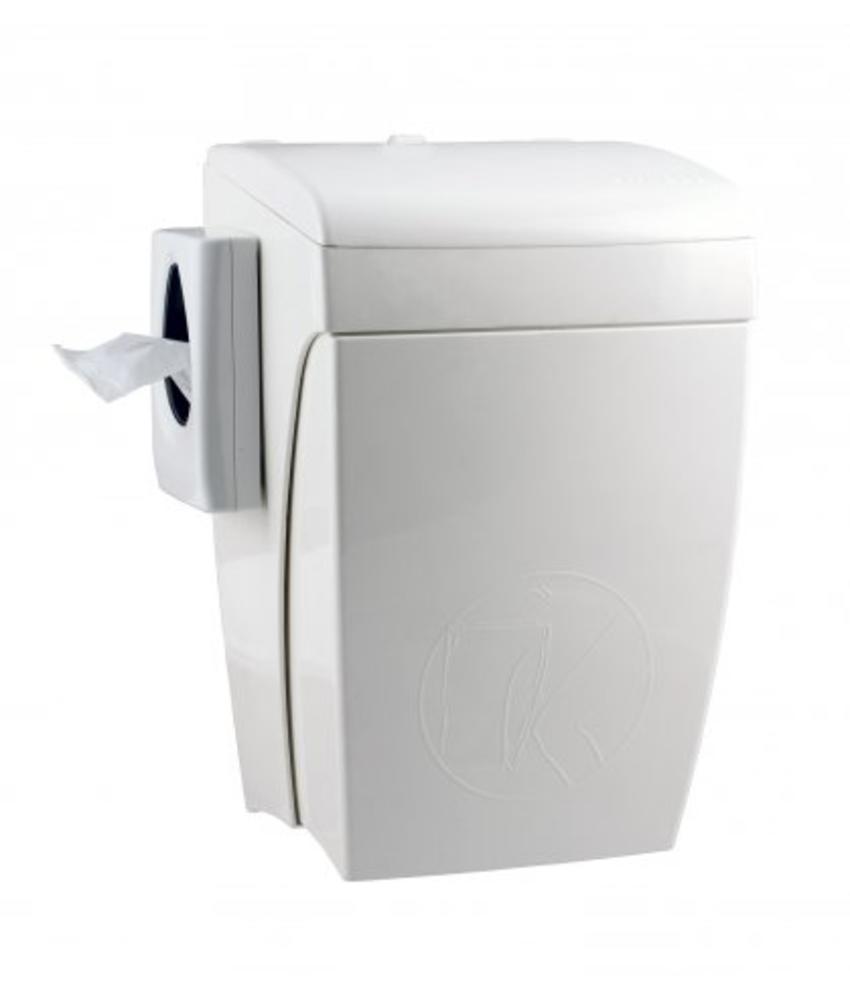PlastiQline Hygienebak met kniebediening 8 liter