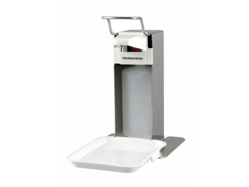 MediQo-line MediQo-line Zeep- & Desinfectiedispenser 500ml RVS + opvangschaal